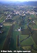 Aerial, Big Valley, Mifflin Co., PA Farms and Housing Development Aerial Photograph Pennsylvania