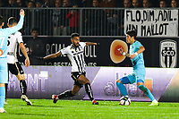 Hiroki Sakai of Marseille and Angelo Fulgini of Angers during the Ligue 1 match between Angers and Marseille at Stade Jean Bouin on December 22, 2018 in Angers, France. (Photo by Eddy Lemaistre/Icon Sport)