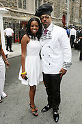 July 24, 2012-New York, NY: (L-R) Tamika Mallory, National Director, National Action Network, and Cake Man Raven, American Baker attends the official Slyvia Woods Harlem Community memorial and send off through the streets of Harlem. Sylvia Woods was an American restaurateur who co-founded the landmark restaurant Sylvia's in Harlem on Lenox Avenue, New York City with her husband, Herbert Woods, in 1962. (Photo by Terrence Jennings)