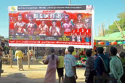 Movie Billboard Near Shwezigon Pagoda