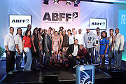Miami Beach, Florida, NY-June 23: Presenters, Actresses, Actors and Jeff Friday, Founder, The American Black Festival pose for a group photo at the 2012 American Black Film Festival Winners Circle Awards Presentation held at the Ritz Carlton Hotel on June 23, 2012 in Miami Beach, Florida (Photo by Terrence Jennings)