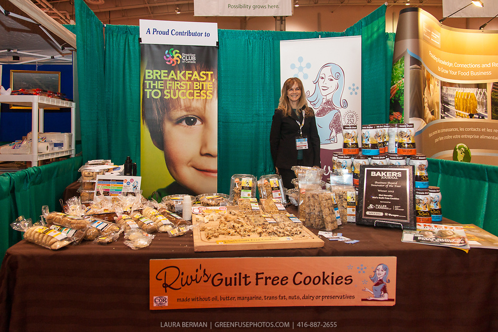 Rivi's Guilt Free Cookies in the Greenbelt's Ontario Pavillion at the CRFA show, March 4, 2014