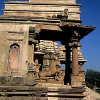 Asia, India, Khajuraho. Temple architecture at Khajuraho.