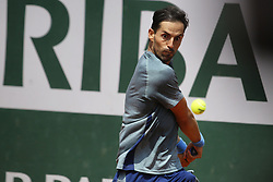 May 22, 2019 - Paris, France - Santiago Giraldo during a match between Santiago Giraldo of COL vs Gianluca Mager of ITA in the second round qualifications of Roland Garros, in Paris, France, on May 22, 2019. (Credit Image: © Ibrahim Ezzat/NurPhoto via ZUMA Press)
