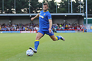AFC Wimbledon defender Jon Meades (3) during the Pre-Season Friendly match between AFC Wimbledon and Crystal Palace at the Cherry Red Records Stadium, Kingston, England on 27 July 2016. Photo by Stuart Butcher.