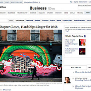 """Screengrab of """"As Bailout Chapter Closes, Hardships Linger for Irish"""" published in The New York Times"""