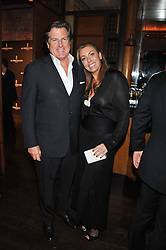 DAVID & GRANIA STEPHENSON at a dinner hosted by de Grisogono at 17 Berkeley Street, London on 12th November 2012.
