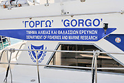 Department of Fisheries and Marine Research boat, Limassol Marina, Cyprus