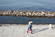 walking along the water