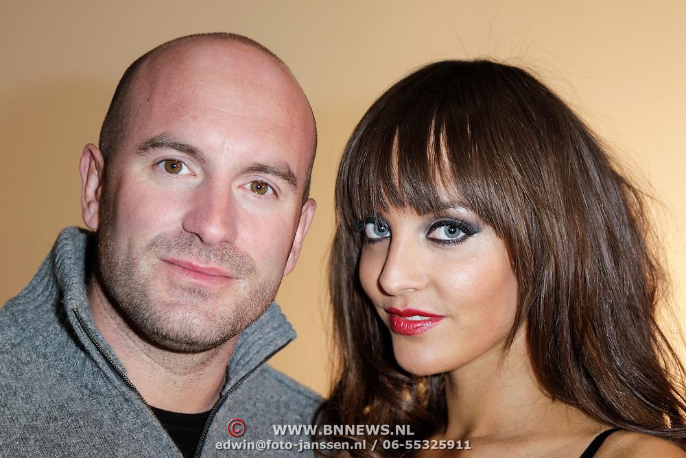 NLD/Amsterdam/20120405 - Fashionshoot Jamie Faber voor Sapph kerst 2012, samen met partner Dean Saunders