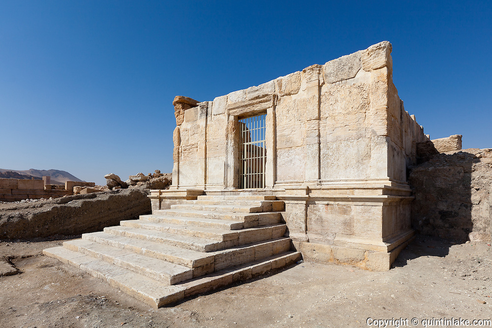 Recently excavated temple. Palmyra, Syria. Ancient city in the desert that fell into disuse after the 16th century.