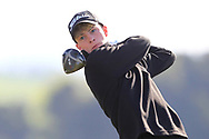 Luke O'Neill (Connemara) on the 2nd tee during Round 2 of the Ulster Boys Championship at Donegal Golf Club, Murvagh, Donegal, Co Donegal on Thursday 25th April 2019.<br /> Picture:  Thos Caffrey / www.golffile.ie