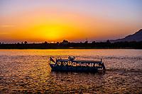 Sunset on the Nile River, Luxor, Egypt
