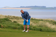 Ben Best (Rathmore) on the 11th green during Round 4 of The West of Ireland Open Championship in Co. Sligo Golf Club, Rosses Point, Sligo on Sunday 7th April 2019.<br /> Picture:  Thos Caffrey / www.golffile.ie