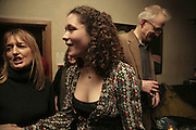 Lucy Andre and Mary Nighy, Party to launch High Tide Writers Festival which will be held in Halesworth, Suffolk. Adam St. Club. 10 January 2007.  -DO NOT ARCHIVE-© Copyright Photograph by Dafydd Jones. 248 Clapham Rd. London SW9 0PZ. Tel 0207 820 0771. www.dafjones.com.