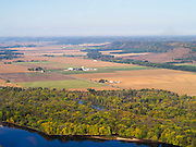 Aerial view of  the Wisconsin River Valley, Wisconsin.