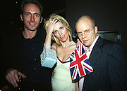 Lucy Sykes and Toby Young. Plum & Lucy Sykes 30th birthday. Lot 61,  550 West 21 St. NY.   4/12/99<br />© Copyright Photograph by Dafydd Jones 66 Stockwell Park Rd. London SW9 0DA Tel 020 7733 0108 www.dafjones.com