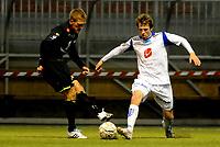 Fotball<br /> 13. Januar 2012 <br /> Vestlandsmesterskapet <br /> Sogndal v Haugesund<br /> Per Egil Flo (L) , Sogndal<br /> Håvard Storbæk (R) , Haugesund<br /> Foto: Astrid M. Nordhaug