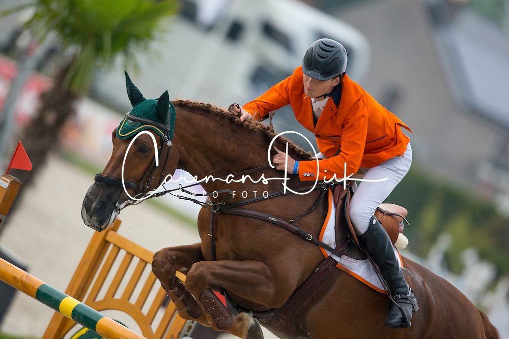 Van Grunsven Jens, (NED), Cika<br /> Class 16 Nations Cup YR<br /> International Competition CSIO Young Riders Opglabbeek 2016<br /> © Dirk Caremans