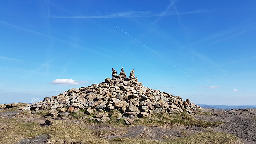 Summit cairn on Grindslow Knoll