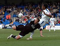 Photo: Paul Greenwood.<br />Tranmere Rovers v Swansea City. Coca Cola League 1. 10/03/2007.<br />Swansea's Lee Trundle (L) looses out in the tackle to Robbie Stockdale