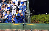 CHICAGO, IL - OCTOBER 12:  A fan fails to catch the home run hit by Stephen Piscotty #55 of the St. Louis Cardinals in the first inning of Game 3 of the NLDS between the Chicago Cubs and the St. Louis Cardinals at Wrigley Field on Monday, October 12, 2015 in Chicago , Illinois. (Photo by Ron Vesely/MLB Photos via Getty Images) *** Local Caption *** Stephen Piscotty