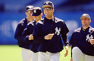 BRONX, NY - 2000:  Derek Jeter of the New York Yankees looks on during an MLB game at Yankee Stadium in The Bronx, New York, (Photo by Ron Vesely)  Subject:   Derek Jeter