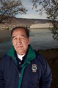Elmer Crow Jr. a Nez Perce Elder and technical supervisor for the Nez Perce Department Of Fisheries Resources Management.