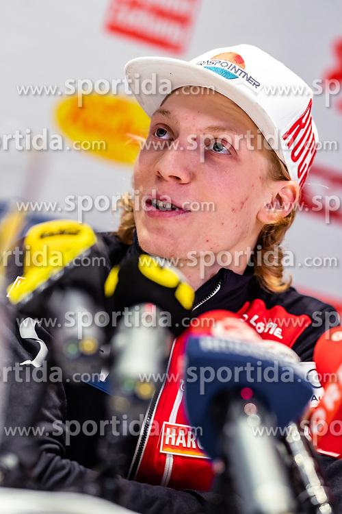 22.02.2019, Seefeld, AUT, FIS Weltmeisterschaften Ski Nordisch, Seefeld 2019, Skisprung, Herren, Pressekonferenz, im Bild Jan Hoerl (AUT) // Jan Hoerl of Austria during a press conference of ski jumping team of the FIS Nordic Ski World Championships 2019. Seefeld, Austria on 2019/02/22. EXPA Pictures © 2019, PhotoCredit: EXPA/ JFK