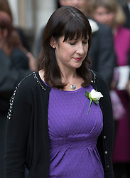 © Licensed to London News Pictures. 20/06/2016. London, UK. Rachel Reeves MP leaves St Margaret's Church, Westminster Abbey after attending a Service of Prayer and Remembrance to commemorate Jo Cox MP, who was killed in her constituency on June 16, 2016. Photo credit: Peter Macdiarmid/LNP