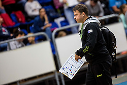 Uros Bergant head coach of Slovenia during friendly game between national teams of Slovenia and Serbia on 29th of September, Celje, Slovenija 2018