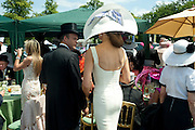 KIM WORSOE; ISABEL KRISTENSEN, Royal Ascot. Tuesday. 14 June 2011. <br /> <br />  , -DO NOT ARCHIVE-© Copyright Photograph by Dafydd Jones. 248 Clapham Rd. London SW9 0PZ. Tel 0207 820 0771. www.dafjones.com.