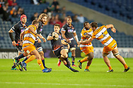 Simon Hickey (#10) of Edinburgh Rugby cuts throught the  Cheetahs defence during the Guinness Pro 14 2018_19 match between Edinburgh Rugby and Toyota Cheetahs at BT Murrayfield Stadium, Edinburgh, Scotland on 5 October 2018.