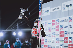06.01.2021, Paul Außerleitner Schanze, Bischofshofen, AUT, FIS Weltcup Skisprung, Vierschanzentournee, Bischofshofen, Finale, Podium Gesamtsieg, im Bild 3. Platz Dawid Kubacki (POL) // 3rd placed Dawid Kubacki of Poland during Podium for the overall victory of the Four Hills Tournament of FIS Ski Jumping World Cup at the Paul Außerleitner Schanze in Bischofshofen, Austria on 2021/01/06. EXPA Pictures © 2020, PhotoCredit: EXPA/ JFK