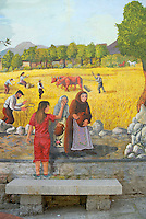 Italie. Sardaigne. Province de Nuoro. Village de Orotelli. Fresque murale. // Italy. Sardinia. Nuoro province. Orotelli village. Mural painting.