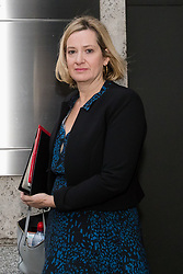 November 19, 2018 - London, London, UK - London, UK.  AMBER RUDD, the newly appointed Work and Pensions Secretary arrives at the Department for Work and Pensions in Westminster this morning. Last week, there were multiple resignations from the cabinet over a proposed Brexit deal with the European Union. (Credit Image: © Vickie Flores/London News Pictures via ZUMA Wire)