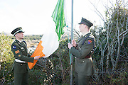 28/03/2016 Sgt Ian Seoighe from An Cheathru Rua and Ltn Shay O Giollagain from Dublin at Pearse's Cottage, Teach an Phiarsaigh, in Rosmuc in Connemara during a special broadcast of RTÉ Raidió na Gaeltachta programme Adhmhaidin on Easter Monday 28 March 2016.  <br /> <br /> Patrick Pearse used the cottage as a summer house, and also as summer school for his pupils from St Enda's school in Dublin.  He was inspired by the people and the culture of the area, and it is said that he composed the graveside oration he gave at O'Donovan Rossa's funeral in 1915 there.<br /> <br /> The broadcast was to commemorate the centenary of the Easter Rising, and also marked 30 years on air for the programme.  <br /> Photo:Andrew Downes, xposure.