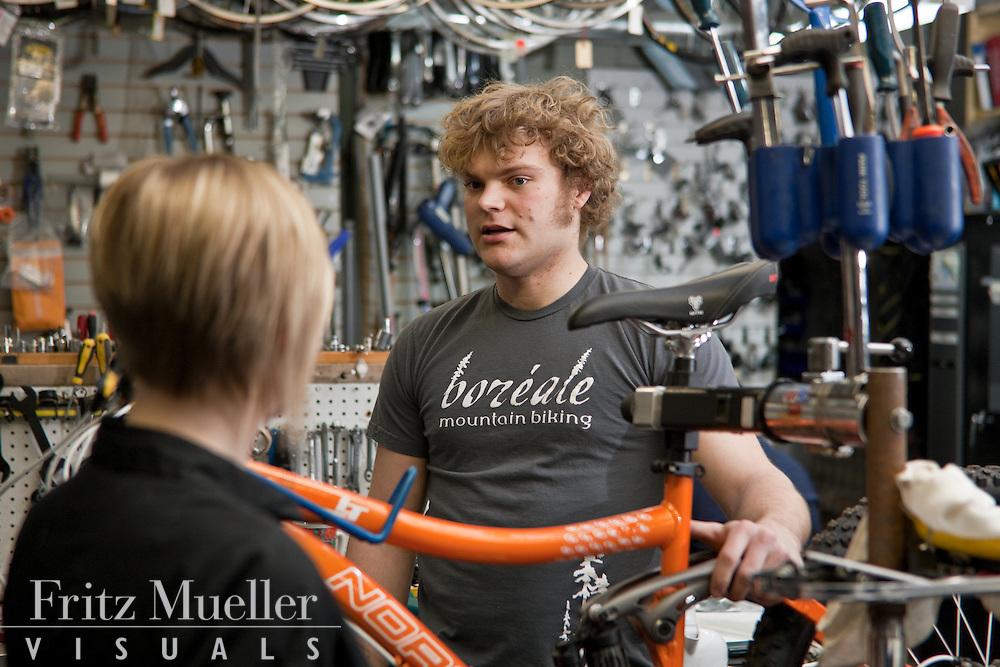Rory at Boreale Mountain Biking offers mountain bike service tips