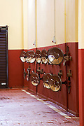 Fermentation tanks. Amyntaion wine cooperative, Amyndeon, Macedonia, Greece