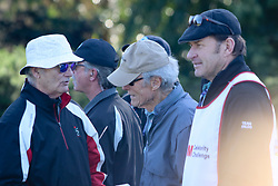 """Feb 6, 2019 Pebble Beach, Ca. USA TV, Film and singing stars that included Winners, CLINT EASTWOOD who's caddy was former golf pro, SIR NICK FALDO with BILL MURRAY, whom played in the """"3M Celebrity Challenge"""" to try for part of the 100K purse to go to their favorite charity and win the Estwood-Murray cup, for which team Clint Eastwwod's group won.. The event took place during practice day of the PGA AT&T National Pro-Am golf on the Pebble Beach Golf Links. Photo by Dane Andrew c. 2019 contact: 408 744-9017  TenPressMedia@gmail.com"""