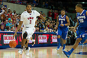 DALLAS, TX - FEBRUARY 01: Sterling Brown #3 of the SMU Mustangs drives to the basket against the Memphis Tigers on February 1, 2014 at Moody Coliseum in Dallas, Texas.  (Photo by Cooper Neill/Getty Images) *** Local Caption *** Sterling Brown