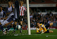 Photo: Steve Bond.<br />Birmingham City v Sunderland. The FA Barclays Premiership. 15/08/2007.  keeper Craig Gordon can do nothing to keep out Paul McShane's own goal