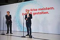 DEU, Deutschland, Germany, Berlin, 08.01.2021: Deutscher Bundestag, Pressestatement zur digitalen Jahresauftaktklausur der SPD-Bundestagsfraktion mit SPD-Fraktionschef Rolf Mützenich, Bundesfinanzminister Olaf Scholz.