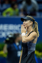 August 31, 2018 - Flushing Meadow, NY, U.S. - FLUSHING MEADOW, NY - AUGUST 30: MARIA SHARAPOVA (RUS) day four of the 2018 US Open on August 30, 2018, at Billie Jean King National Tennis Center in Flushing Meadow, NY. (Photo by Chaz Niell/Icon Sportswire) (Credit Image: © Chaz Niell/Icon SMI via ZUMA Press)