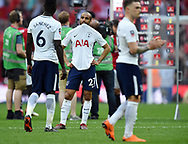 A dejected Lucas Moura of Tottenham Hotspur at the end of the FA cup semi-final match at Wembley Stadium, London. Picture date 21st April, 2018. Picture credit should read: Robin Parker/Sportimage