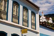 Santa Leopoldina_ES, Brasil...Museu do Colono em Santa Leopoldina com uma igreja ao fundo...The Colono museum in Santa Leopoldina with a church in the background...Foto: LEO DRUMOND / NITRO