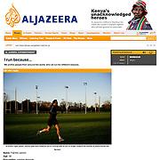 "Screengrab of ""Why we run"" published in Al Jazeera English"
