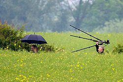 © Licensed to London News Pictures. 30/05/2018. Aldborough, UK. Police forensic officers at the scene of a helicopter crash in Aldborough in north Yorkshire. Emergency services attend the scene of a helicopter crash near the village of Aldborough. Photo credit: Andrew McCaren/LNP