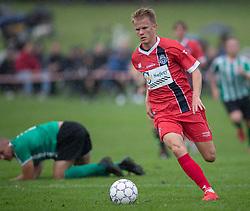 Andreas Smed (FC Helsingør) under kampen i Sydbank Pokalen, 1. runde, mellem Bispebjerg Boldklub og FC Helsingør den 2. september 2020 i Lersø Parken (Foto: Claus Birch).