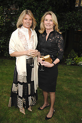 Left to right, sisters LADY CHARLOTTE DINAN and LADY MARY-GAYE CURZON at a reception for the Friends of The Castle of Mey held at The Goring Hotel, London on 20th May 2008.<br /><br />NON EXCLUSIVE - WORLD RIGHTS